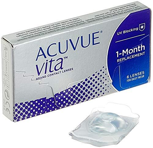 Acuvue Vita Monatskontaktlinsen mit maximalem Tragekomfort / Den ganzen Monat lang / -0.5 dptund BC 8.4 / Mit UV Schutzund durchgängig hohem Feuchtigkeitsgehalt / 6 Linsen