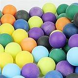 100 Piezas de Tenis de Mesa con Pelotas de Ping Pong coloreadas para Publicidad de Juegos grupales, 40 mm, sin Olor, inofensivas Zum