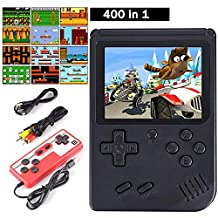 Cypin Handheld-console video game console incl. 400 retro Arcade Games 3 inch LCD-display handheld-gameconsole tv-aansluiting handheld retro videospelconsole draagbare spelconsole schattig cadeau