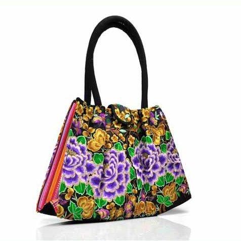 Ricamo Handbags bellissimi fiori–Memorecool tradizionale design festival regali per amici e familiari borse a tracolla flower1 flower3