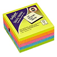 Snopake Sticky Note Cube 76x76mm Neon/Assorted Colours (450 Sheets/Cube) ref 11702