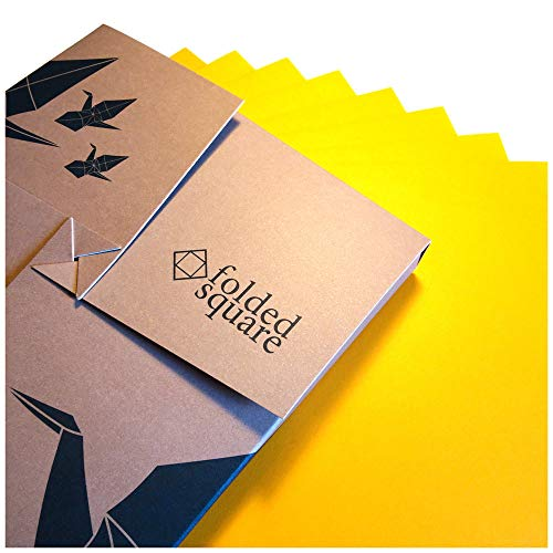Gelb Origamipapier | 100 Blatt, 15cm Quadrat | Pantone 116 -