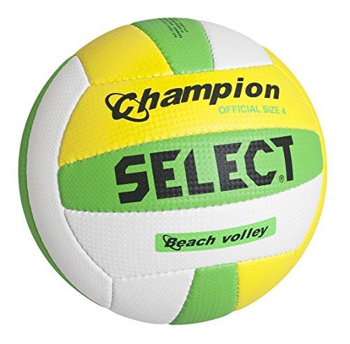 Select Beachvolleyball Champion - Balón de voleibol para exterior, color blanco, talla 4