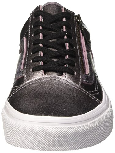 Vans Old Skool Zip Unisex-Erwachsene Sneaker Violett (metallic Leather/thistle Purple/true White)