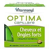 VITARMONYL Optima Cheveux et Ongles Forts 60 Capsules - Lot de 2 - Biotine et vitamines - Fabriqué en France