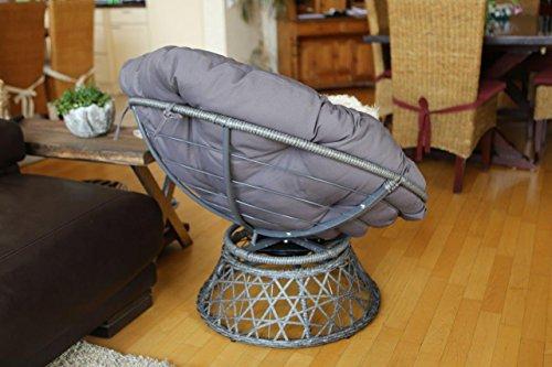 Destiny Drehsessel Coco Sit Papasansessel Round Schwenksessel Korbsessel Hundekorb Hundesessel Gartensessel Sessel - 9
