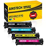 Amstech 4Pack CF210X 131X Kompatibel für Toner HP CF210A CF211A CF212A CF213A 131A Canon Cartridge 731 für HP Laserjet Pro 200 Color MFP M276n M276nw M251n M251nw M276 M251 Schwarz Gelb Yellow Magenta