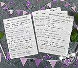 Gästebuch zum Geburtstag, Gästebuch Karten mit witzige Fragen an Gäste zum Ausfüllen, Geburtstagsgeschenk für Frauen und Männer, zum runden Geburtstag