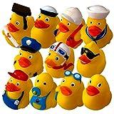 Preis am Stiel 11er Set Badeenten   Badaccessoires   Geschenk für Kinder   Spielzeug   Badespielzeug   Pool   Badewanne   Gummiente   Schwimmbad   Duck   Berufe