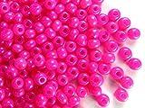 20gr (ca. 240 stk) Tschechische Glas Rocailles Preciosa, Größe 5/0 (4,3mm - 4,8mm), Rundloch, Farbe: Alabaster Bright Pink