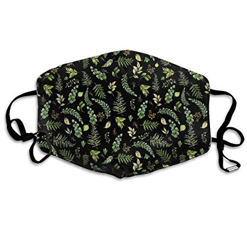 4 Cub And Leaves Mix And Match - Black Anti Dust Mask Anti Pollution Washable Reusable Mouth ()
