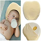 Baby Pillow By vvljproducts: Soft Head Shaping Pillow For Newborns And Infants – Hypoallergenic Organic Cotton Sleeping Cushion To Prevent Flat Head – Great Baby Shower Gift Idea (yellow)