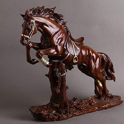 Ludage Wohnaccessoires Handwerk, Harz Pferd Nachahmung Mahagoni Ornamente heimische Wohnzimmer Feng-Shui Ornamente Dekor-Ornamente