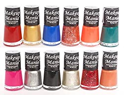 Makeup Mania Exclusive Nail Polish Set of 12 Pcs (Multicolor Set  79)