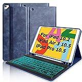 BAIBAO Tastiera per iPad 10.2 2019/Air 3 10.5/PRO 10.5'/7 Generazione, Tastiera Bluetooth Italiana, Custodia per iPad 10.2 con Tastiera Rimovibile