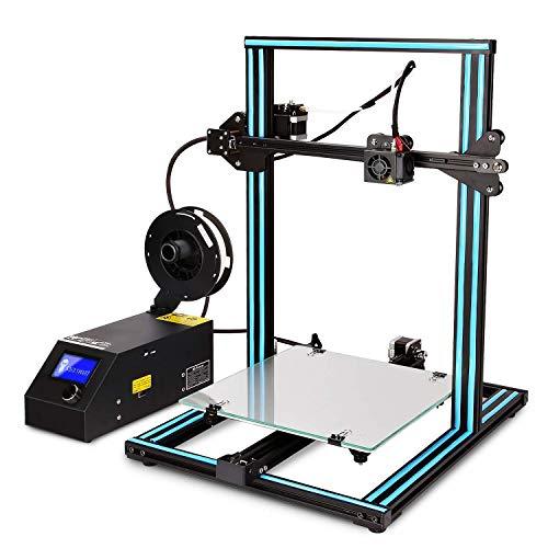 GUCOCO Neueste CTC 3D Drucker A10S Groß Aluminium RahmenHohe Genauigkeit mit beheiztem Bett Druck Größe-300x300x400mm 3D Printer Kit (CTC A10S 300x300x400mm 3D Drucker) -