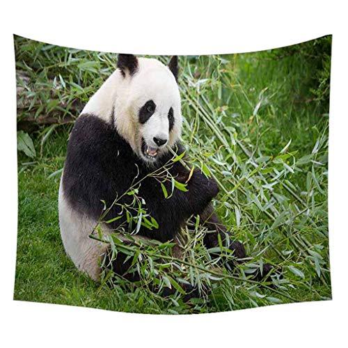 Nncande Meng Haustier - Panda Karikatur -Tapisserie - Schwarzweiss - Wandbehang Tabelle Vorhang Wand Decor Tisch Couch Bezug Picknick Decke Beach Überwurf Wall Hanging Picnic Beach Sheet 150x200cm (P) (Tabelle Haustier)