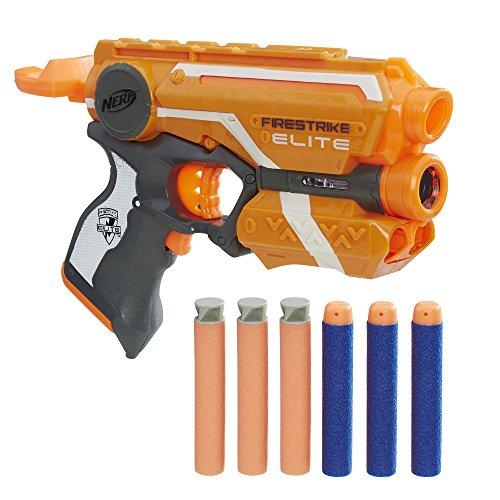 Nerf Elite- Firestrike Pistola dardos22cm Doble Dardos, única (Hasbro E0441EU4)