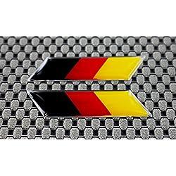 Bandera de Alemania 3d logotipo con adhesivo Set izquierda y derecha cromo Outline