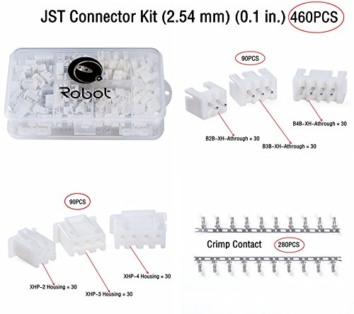Comprar barato jst connector kit 460 pcs with double sided parts case for manufacturers and electronic enthusiasts