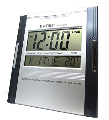 BIG DIGITAL ALARM CALENDAR THERMOMETER TABLE DESK WALL CLOCK TIMER STOPWATCH -14  available at amazon for Rs.1099