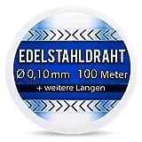 Edelstahldraht V2A Ø 0,10 mm 100 Meter (0,08 EUR/m) Edelstahl Draht Heizdraht Widerstandsdraht Wickeldraht S304 AWG38 0,1