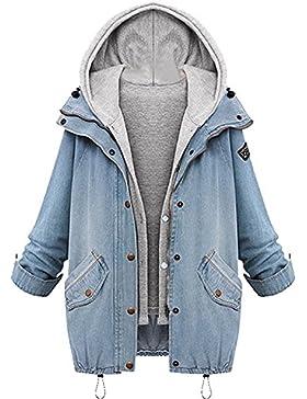 Sitengle Mujer Chaqueta Casual de Mezclilla con 2pcs Conjuntos para Otoño invierno Chamarra Jacket Tops