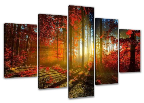Cuadro en Lienzo 160 x 80 cm Nr. 5530 árboles