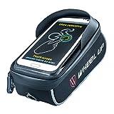 Ziroom Rahmentasche, Fahrradtasche Oberrohrtasche Handy Tasche Handyhalterung Fahrrad Handyhalter, Fahrradhalterung Lenkertasche mit sensitivem Touch Screen, Wasserdicht (Passend bis zu 6,0 Zoll)