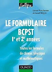 Le formulaire BCPST 1re et 2e années - 1200 formules de chimie, physique et mathématiques