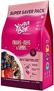 Yogabar Breakfast Cereal & Muesli | 92% Fruit and Nut + Seeds + Whole-Grains | Super Saver -