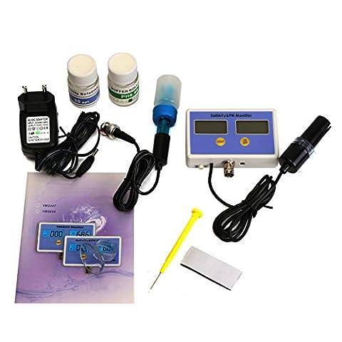 Tutoy Elektronische Salinität Und Ph-Wert On-Line Wasserqualität Meter Monitor 2 Sonden Set