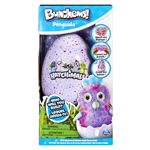 Bunchems 6041479 - Hatchimals Set, Kreativ Set mit Bunchems Klettbällchen und Ei
