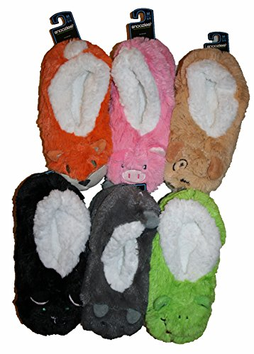 Snoozies Washable Kids Slippers Super Soft Warm Fleece & Cosy Furry Animals c Various