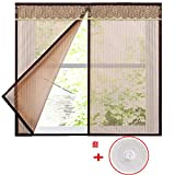 DSAQAO Velcro Moskito Netz Vorhang, Magnetische Keine lücke Wache schützende Netting, Ultra Seal Full-Frame Velcro Mesh-Vorhang-A 150x100cm(59x39inch)
