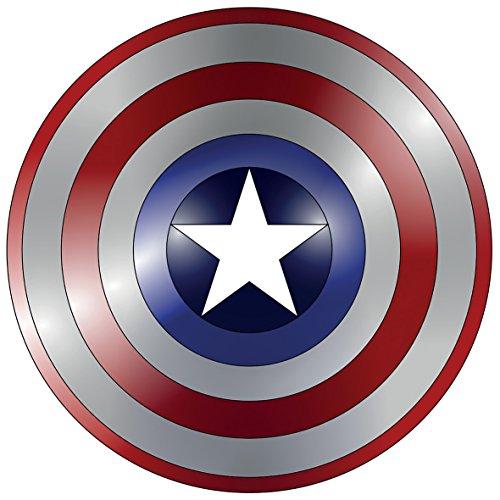 aptain America Shield Logo Wandtattoo Selbstklebende Poster Wall Art Größe 750mm breit x 750mm tief (groß) ()