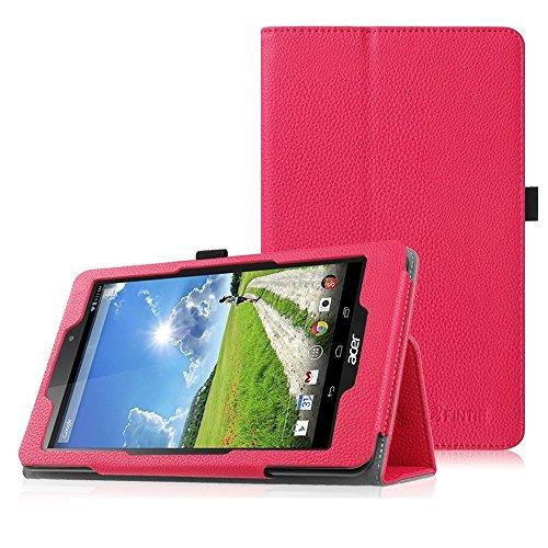 Fintie Acer Iconia One 8 (B1-810) Hülle - Hochwertige Kunstleder Slim Fit Stand Case Cover Schutzhülle Tasche Etui für Acer Iconia One 8 (B1-810) 20,3 cm (8 Zoll) Tablet, Magenta