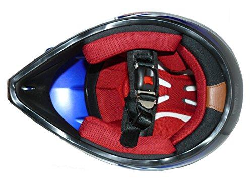 Protectwear Casco bambini Cross e corsa blu lucido V310-BL taglia 2XS 51//52 cm giovent/ù M