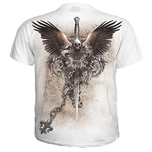 Spiral T-Shirt WINGS OF FREEDOM white #35074 Weiß