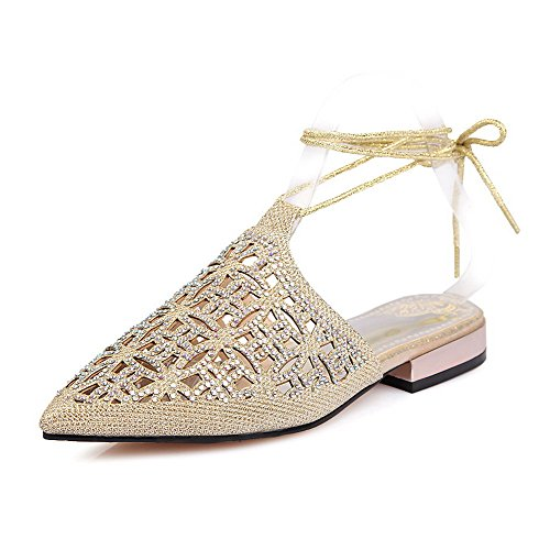 voguezone009-womens-assorted-color-soft-material-low-heels-closed-toe-lace-up-sandals-lightgold-36