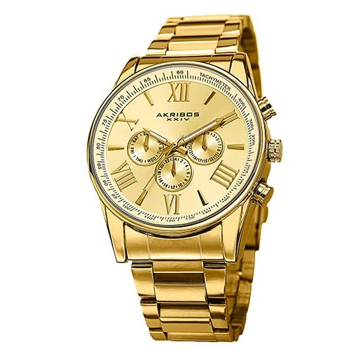 51k90PQzDsL. SS510  - Akribos XXIV AK736YG Gold Mens watch