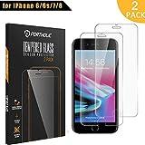 iPhone 6 6s 7 8 Protector de Pantalla, Cristal Vidrio Templado Premium 4.7'' PORTHOLIC [2-Unidades][9H Dureza][3D Touch][Alta Definicion] Anti-Explosion/HD-display/Anti-water,oil,fingerprints/0.33mm
