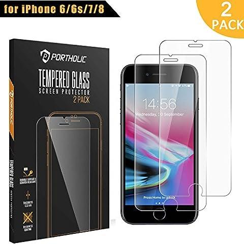 iPhone 6 6s 7 8 Schutzfolie Panzerglas panzerfolie displayschutzfolie folie ,PORTHOLIC [2 Stück][9H Härtegrad][3D Touch] 4.7 zoll iPhone 6 6s 7 Gehärtetem Glas panzerfolie —QUALITY WARRANTY— Anti-Explosion/HD-display/Anti-water,oil and fingerprints/0.33mm Screen Protector (Glas Iphone)