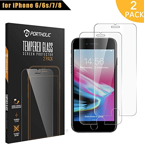[2-Pack] One Plus Three iPhone 7/7 Plus Tempered Glass Screen Protector, 9h Hardness, anti de Explosion, pantalla HD, antirreflejos, Water, Oil and Fingerprints, Quality Warranty.