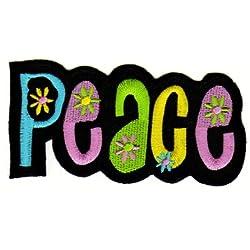 Parche plancha de planchar Iron on patches applikation Love Amor Peace hippie negro