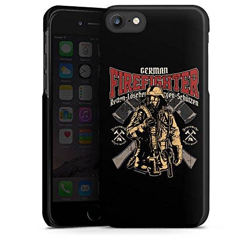 Apple iPhone 6s Hülle Case Handyhülle Feuerwehrmann Feuerwehr Firefighter Hard Case schwarz