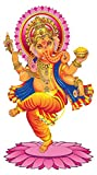 Wandtattoo Indien Wandtattoo Indische Gottheit Ganesha mit bunten Farben Indisc