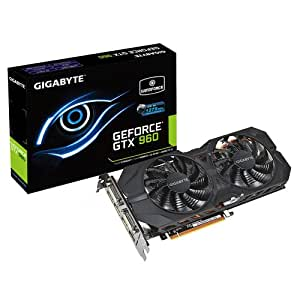 Gigabyte GeForce GTX 960 2GB Windforce OC Edition Graphics Card (2GB, GDDR5, PCI-E 3.0, 128Bit, HDMI, DP, Dual-Link DVI) Boost to 1279Mhz