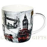 Diseño de tema de Londres escena taza