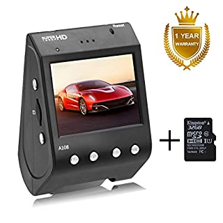 Senwow Dash Cam (With 32GB Card) 1296P Super HD Car Camera 170° Wide Angle Driving Video Recorder Dashboard DVR Camcorder Built In ADAS LDWS FCWS G-Sensor Night Vision Loop Recording Parking Monitor